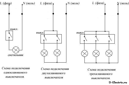 Схема подключения розеток и